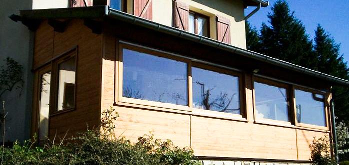 Corgier ruivard verranda pergolas 69 rh ne for Charpente bois pour veranda